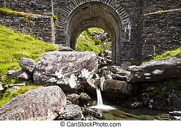 Bridge over little mountain creek Beara Peninsula Ireland
