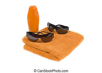 Accessory for beach creme,towel and sunglasses