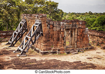 Leaning Building at East Mebon Temple