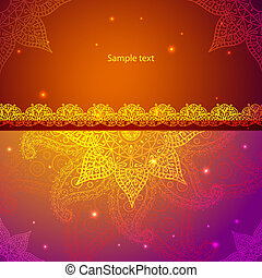 Gold Indian Vintage Ornament Vector illustration for your...