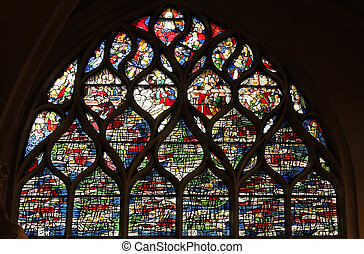 Stained glass, Church of St. Gervais and St. Protais, Paris