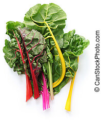 swiss chard, mangold, bietola - colorful leaf vegetable...