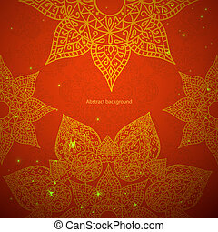 Red indian ornament Vector illustration
