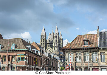 Cathedral of Our Lady of Tournai in Belgium - The mixed...