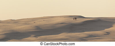 Sand dunes near Stockton Beach Port Stephens Anna Bay...