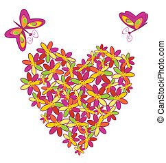 Heart floral shape