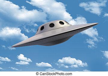 Unidentified Flying Object in sky
