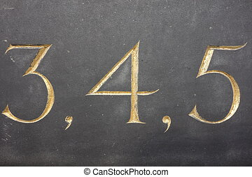 Numbers Three Four Five - Numbers three, four and five in...
