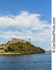 Elba island Tuscany, Italy - The lighthouse of Portoferraio...