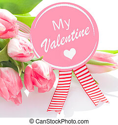My Valentines rosette with pink tulips - My Valentines...