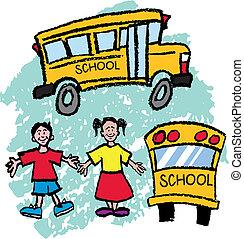 School Bus kids