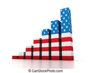 Graphi with USA flag
