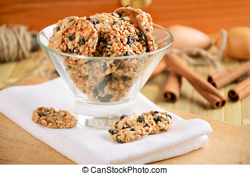 cookies cookies in a glass vase on white kitchen towel
