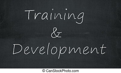 chalkboard training & development - Illustration of training...