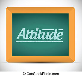 attitude chalkboard illustration design