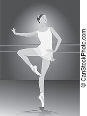 ballet dancer, vector