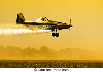 Crop Duster Silhouette - Crop duster, aircraft silhouette...
