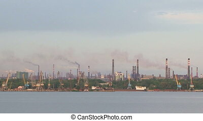 Industrial view - View at an industrial city