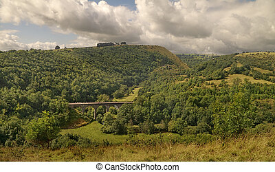 Monsal Dale - The viaduct was built to carry railway traffic...