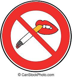 Ban on smoking