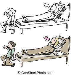 Adjustable Bed - An image of an adjustable bed.