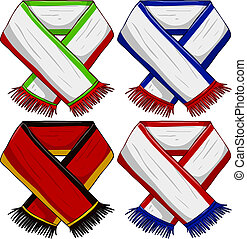 Sports Team Scarf Pack 2 - A pack of vector illustrations of...