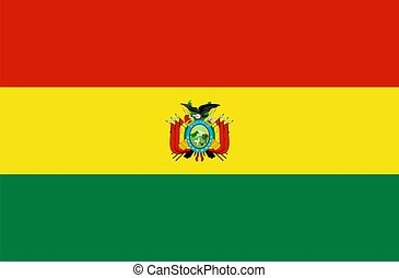 Flag of Bolivia. Illustration over white background