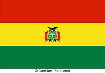 Flag of Bolivia. Illustration over white background