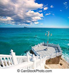 Benidorm balcon del Mediterraneo Mediterranean sea -...