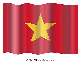 Vietnam flag - Vietnam national flag. Illustration on white...