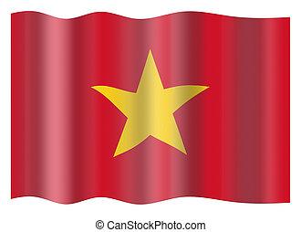 Vietnam flag - Vietnam national flag. Illustration on white...