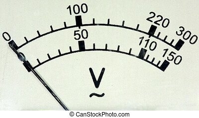 old analog voltmeter, FULL HD.