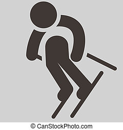 Downhill skiing - Winter sport icon - Downhill skiing