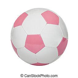 Pink Soccer Ball - Girl's soccer ball isolated on white...