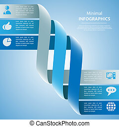 Modern Design template, can be used for infographics