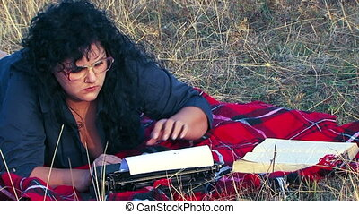 Writer on a picnic