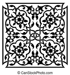 oriental ottoman design one - series of patterns designed by...