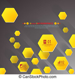 Background polygons cut paper- design template. Vector...