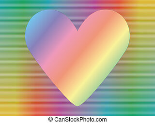 hologram with valentine - valentine over abstract spectrum...