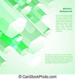 Cristal green ice background Vector illustration for your...
