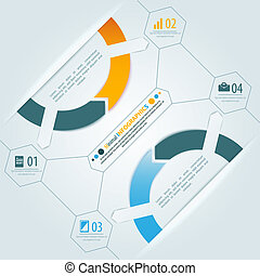 Minimal infographics 3d shadow design. Vector illustration...