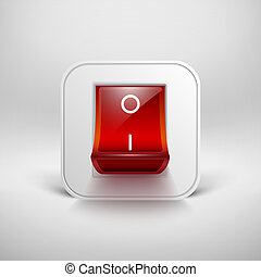 OnOff switch Vector illustration