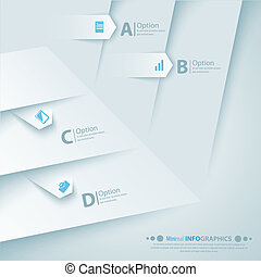 Abstract 3D Paper Infographics. Vector illustration for business presentation