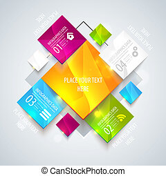 Modern vector with paper elements for business design