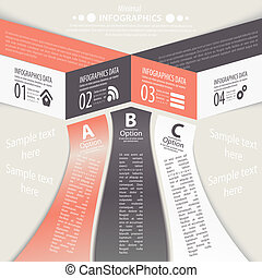 Modern design infographic template Numbered banners Minimal...