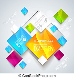 Abstract glossy geometric background. Vector illustration...