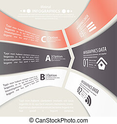 Modern design infographic template.