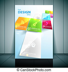 Business Flayer Template Vector Design.