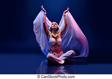 Beautiful oriental dancer - beautiful oriental dancer in a...