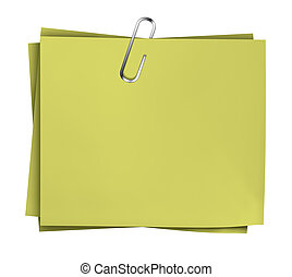 Business Note Paper Clip - Business yellow blank note paper...